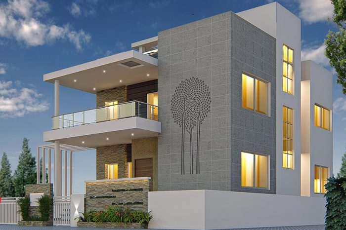 Residential Elevation Panash Design Studio,Wedding Latest Earrings Designs In Gold